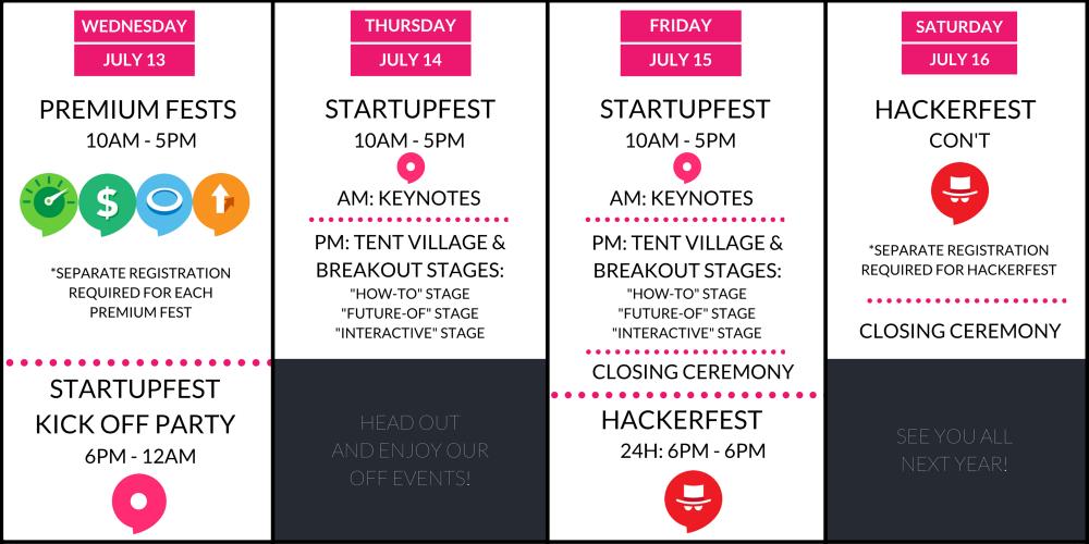 2016 Montreal StartupFest Agenda general