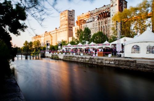 startup fest tent village old montreal